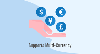 Supports Multi Currency