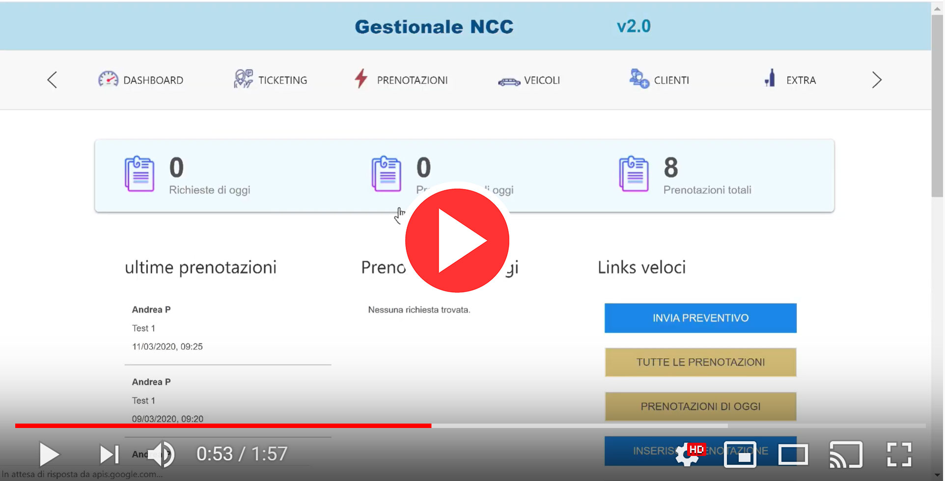 gestionale ncc video