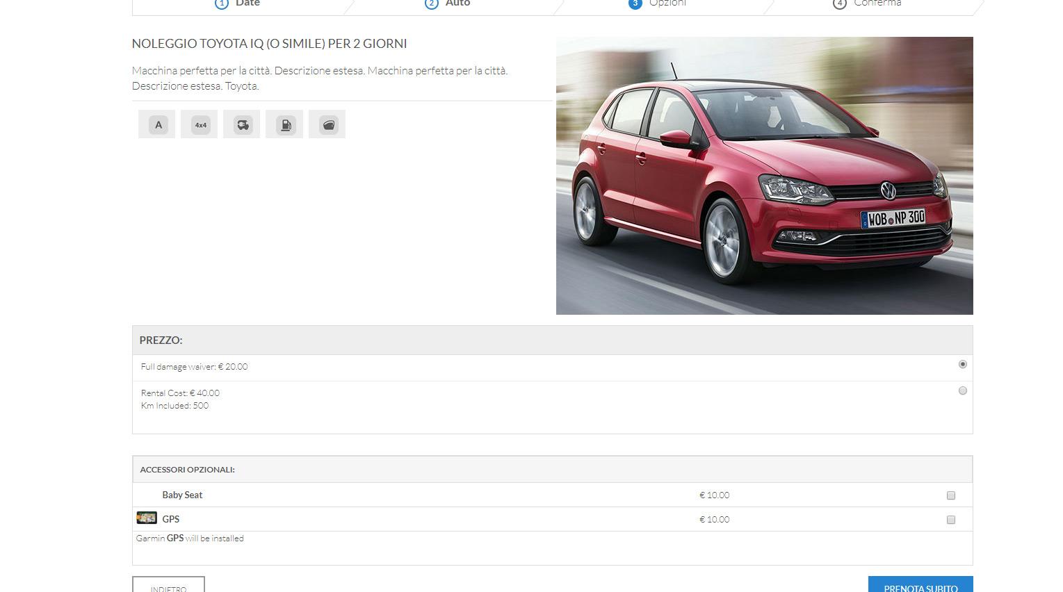 sistema Noleggio Auto e booking engine autonoleggio 3